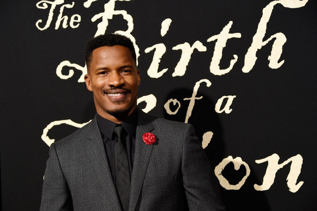 """""""The Birth of a Nation"""" filmmaker Nate Parker poses at its premiere in Los Angeles on September 21, 2016."""