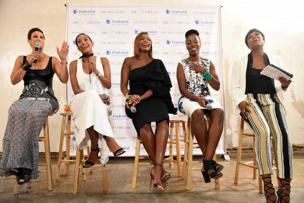 African American female business leaders attend the Essence Festival at the Southern Food and Beverage Museum on July 2, 2016, in New Orleans.