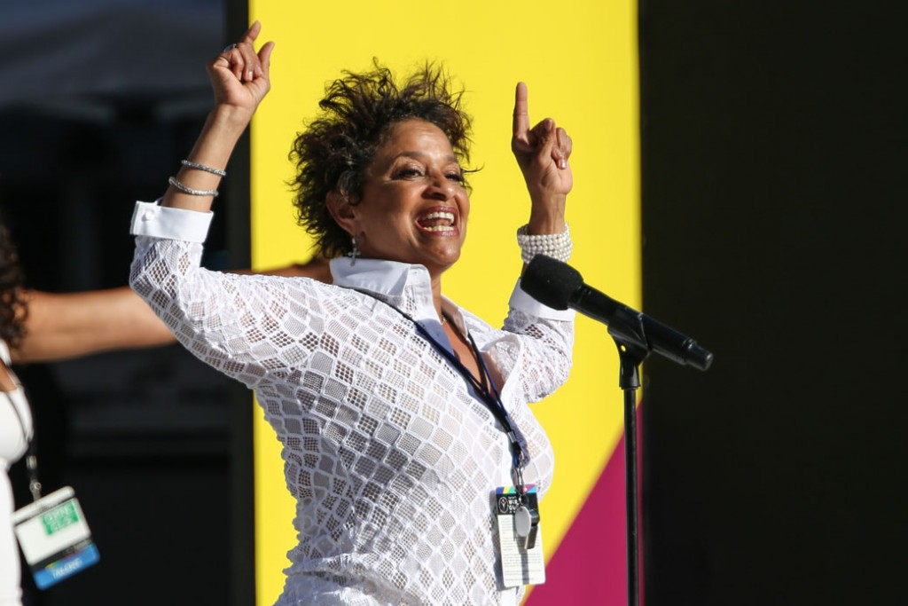 Debbie Allen speaks at the Opening Ceremony of the 2015 Special Olympics World Games on July 25, 2015, in Los Angeles.