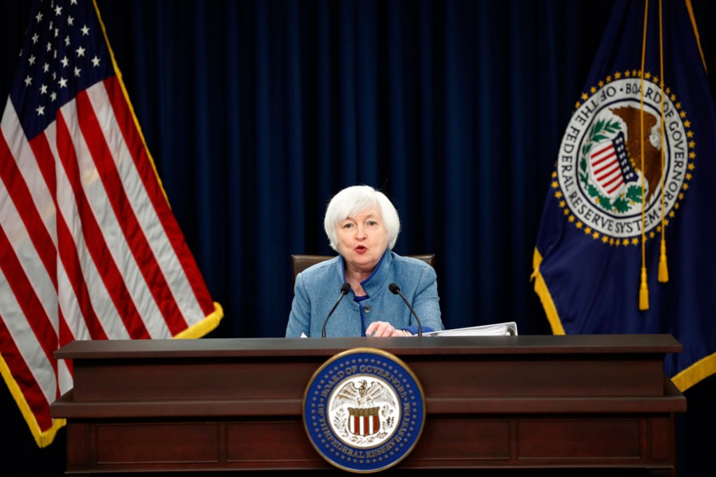 Federal Reserve Board Chair Janet Yellen speaks during a news conference about monetary policy on December 14, 2016, in Washington, D.C.
