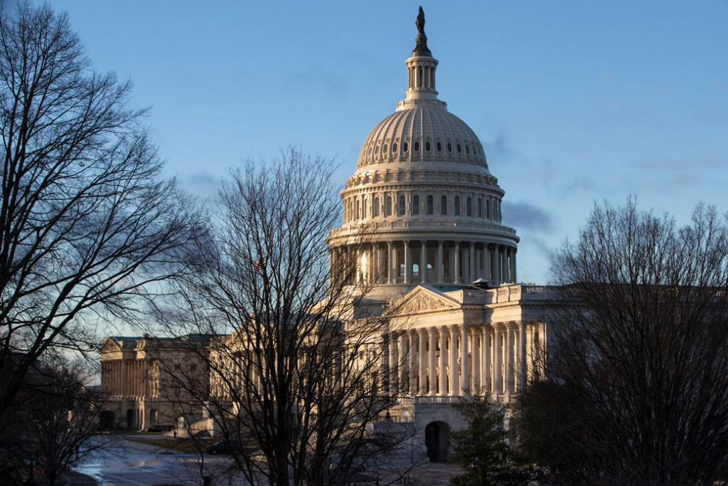 The Capitol in Washington, D.C., is seen early on January 24, 2017.