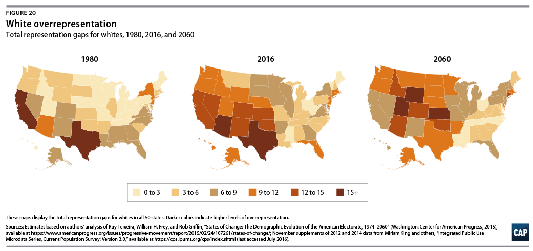 States Of Change Center For American Progress - Map representation of ethnic groups in us states