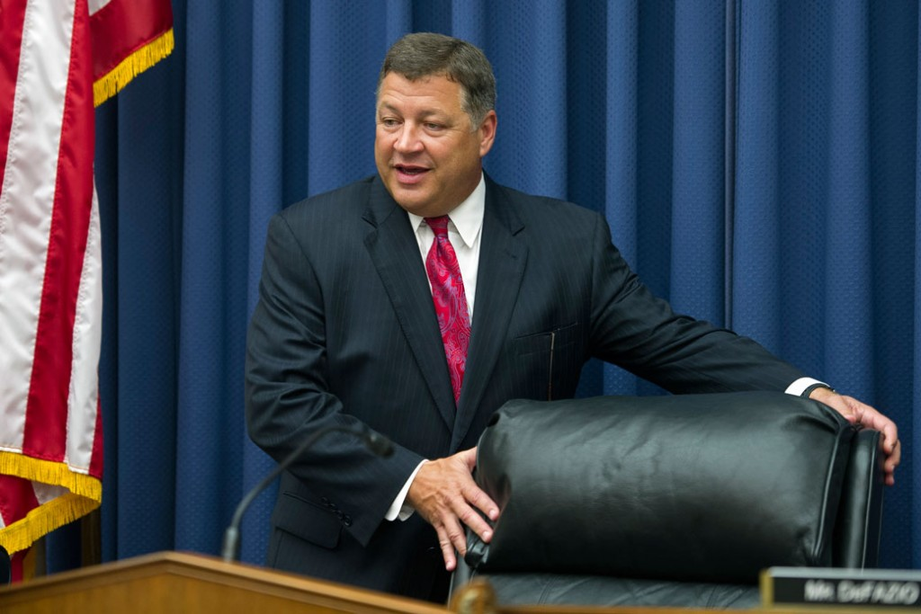 House Transportation and Infrastructure Committee Chairman Bill Shuster takes his seat on Capitol Hill in Washington,  June 2, 2015.