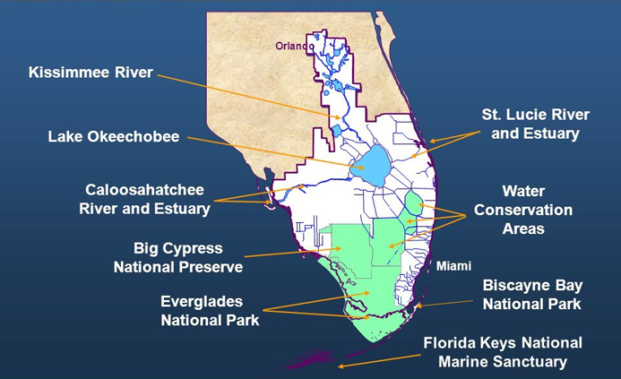 <strong>South Florida watershed</strong><br />PHOTO COURTESY OF THE U.S. ARMY CORPS OF ENGINEERS