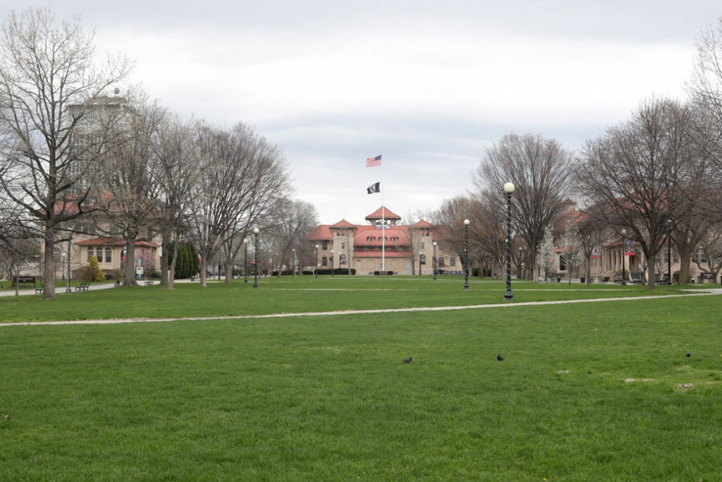 A college campus, April 2017.