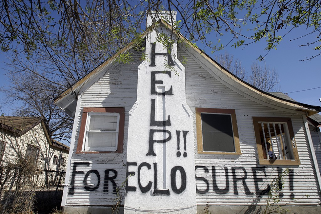 A home facing foreclosure is seen in San Antonio, February 2009.