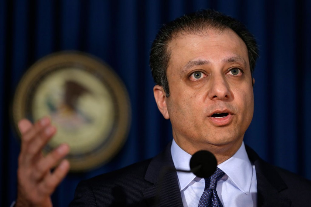 Preet Bharara, the former U.S. attorney for the Southern District of New York, is seen at a news conference in New York, May 19, 2016.