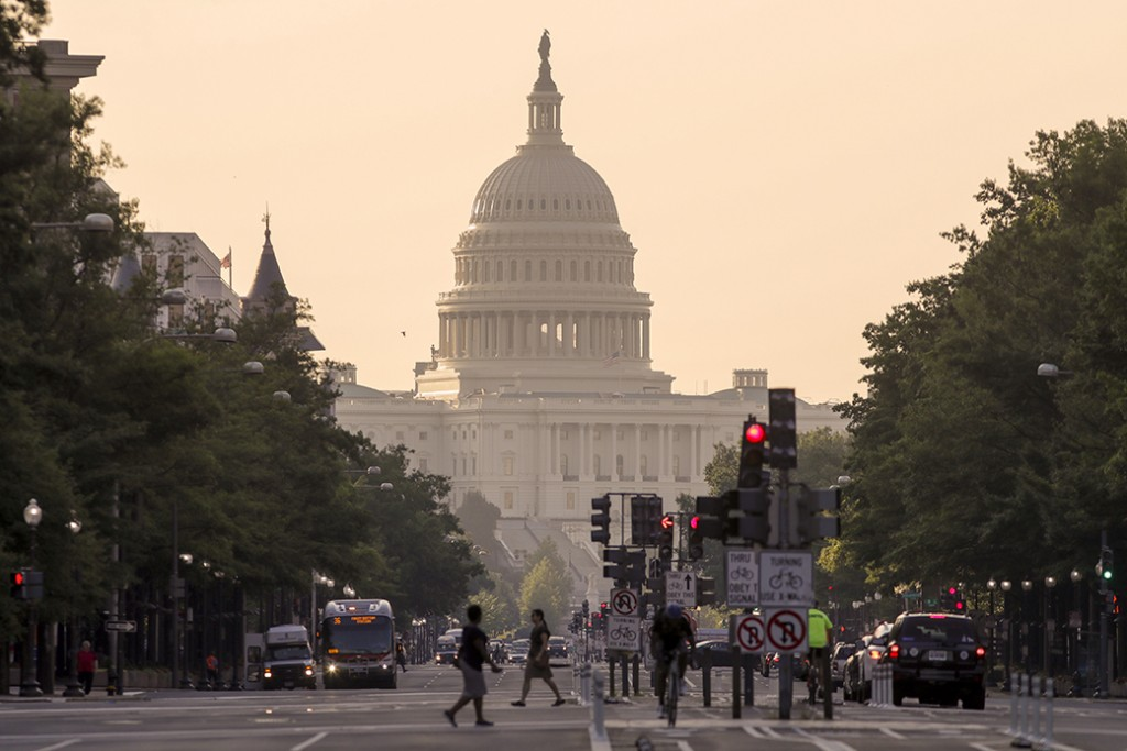 The Capitol in Washington is seen early on July 13, 2017.