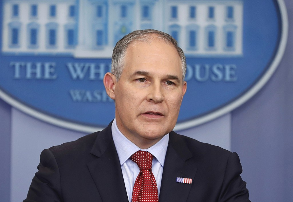 EPA Administrator Scott Pruitt speaks in the Brady Press Briefing Room of the White House in Washington, June 2, 2017.