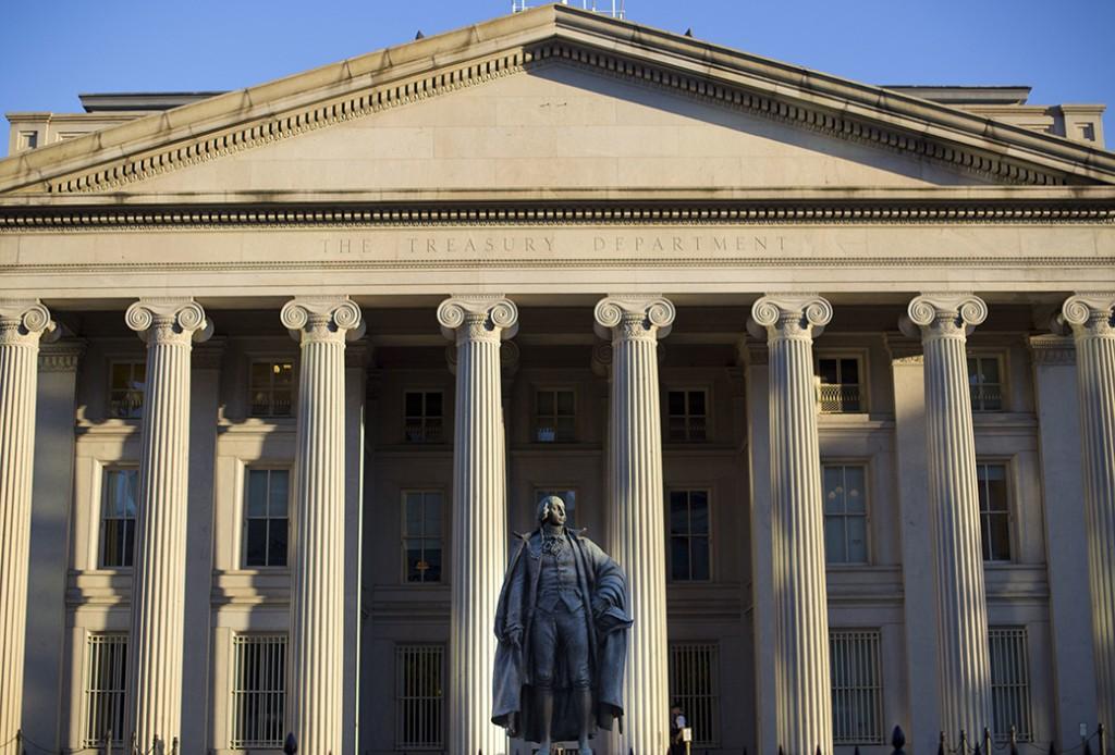 The U.S. Treasury Department building in Washington, June 2017.