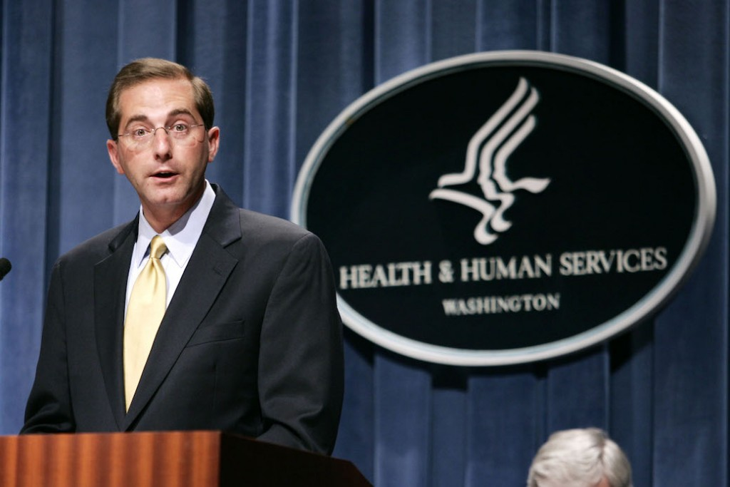 Former Deputy HHS Secretary Alex Azar meets with reporters in Washington, D.C., June 2006.