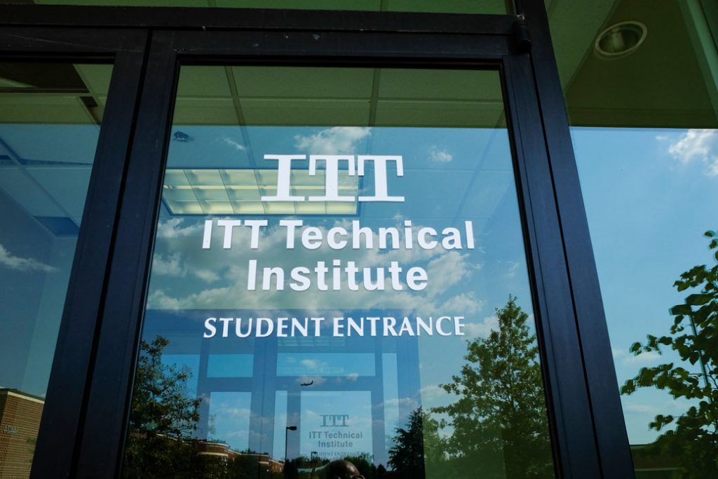 The Chantilly, Virginia, campus of ITT Technical Institute sits closed and empty on September 6, 2016.
