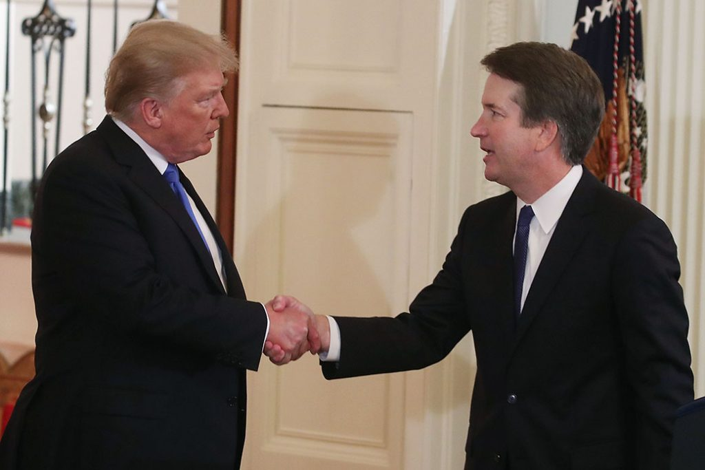 U.S. President Donald Trump introduces U.S. Circuit Judge Brett M. Kavanaugh  as his nominee to the U.S. Supreme Court.