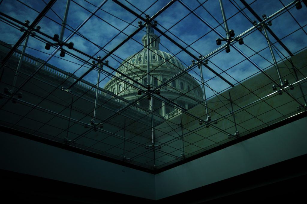 A view of the U.S. Capitol dome, January 2018.