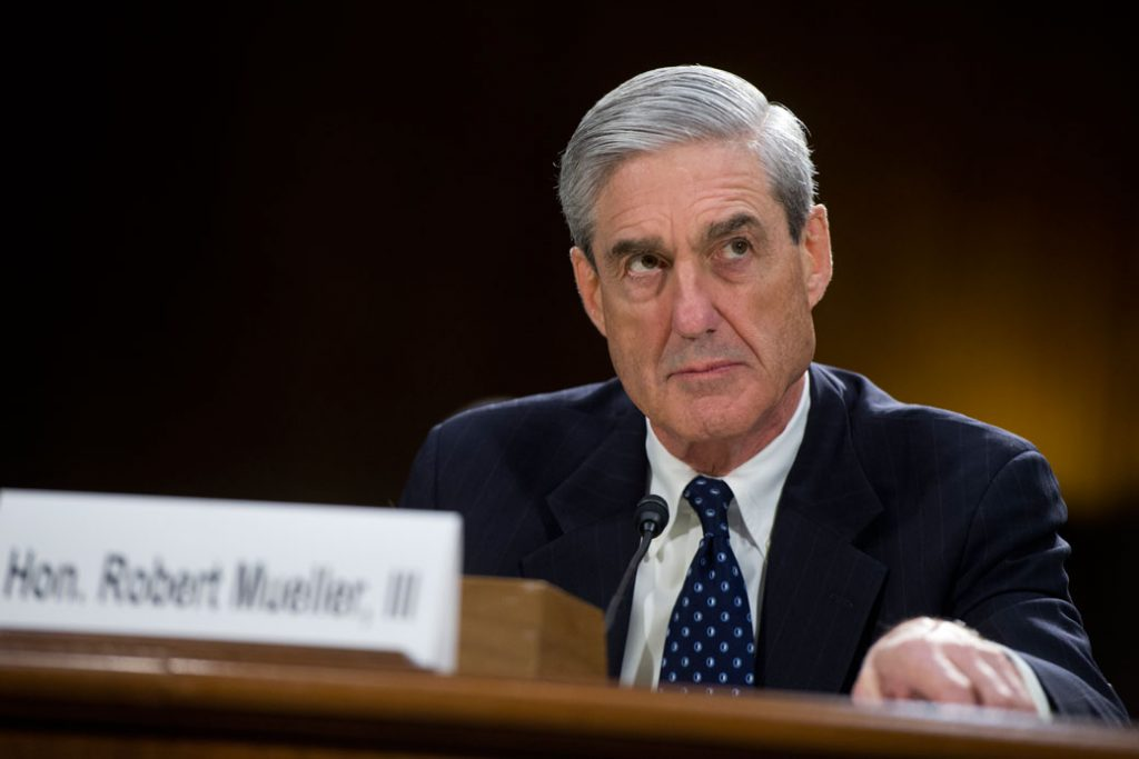 Robert Mueller testifies before a Senate Judiciary Committee, June 2018.