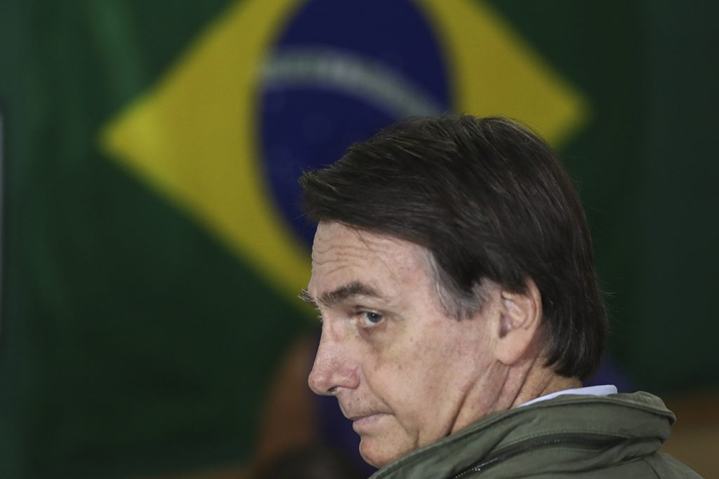 Jair Bolsonaro, far-right lawmaker and president-elect of Brazil, October 2018