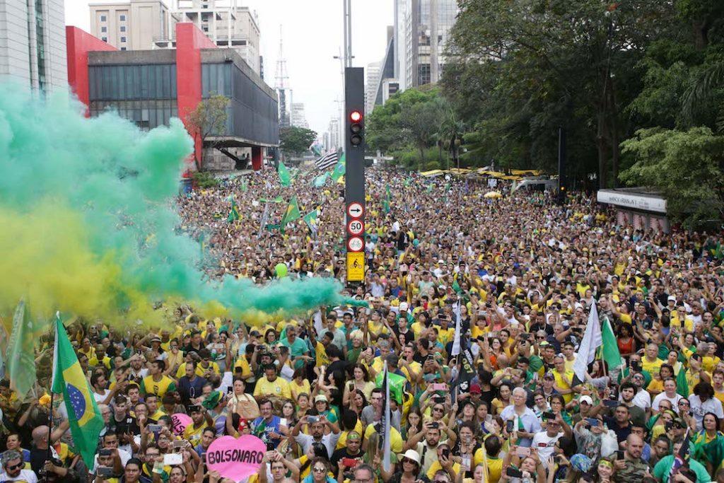 Pro Bolsonaro Rally In Sao Paulo
