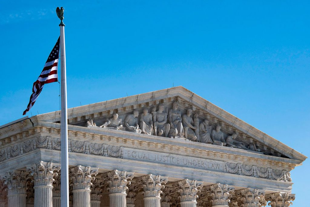 The U.S. Supreme Court is seen in Washington, D.C., on January 22, 2019.