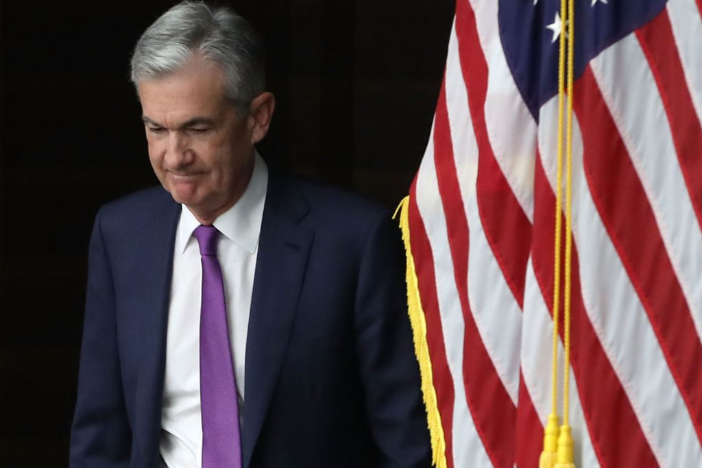Federal Reserve Chairman Jerome Powell arrives for a news conference in Washington, D.C., September 2018.