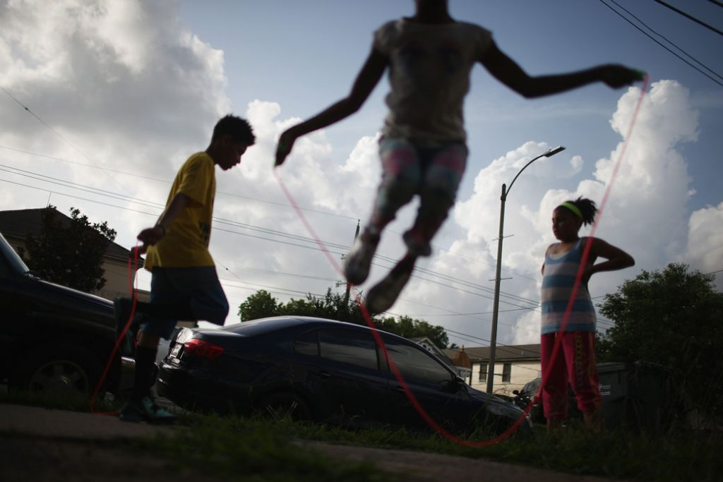 Kids jump rope in New Orleans, May 2015.