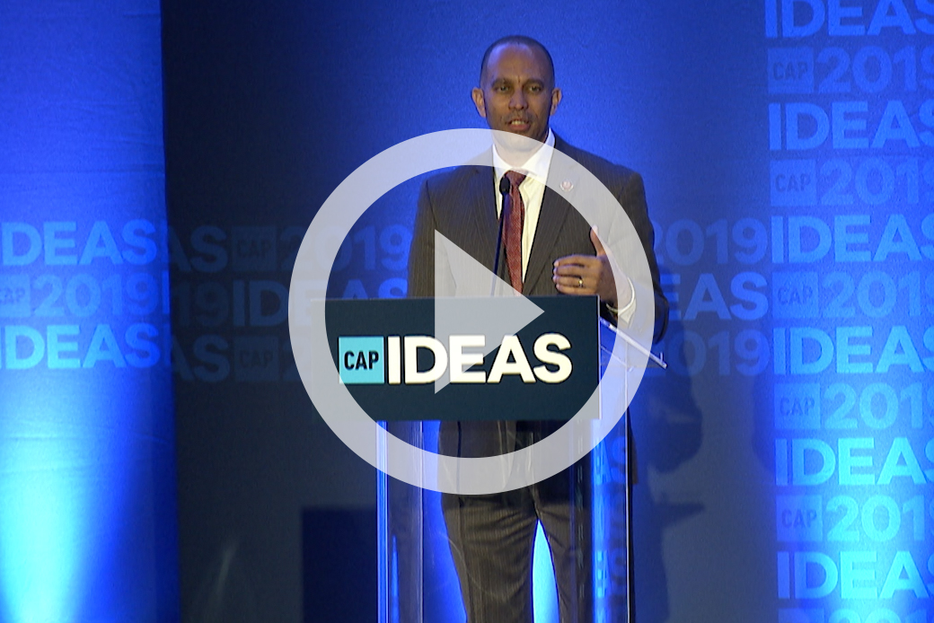 Rep. Hakeem Jeffries (D-NY) speaks at the 2019 CAP Ideas Conference.