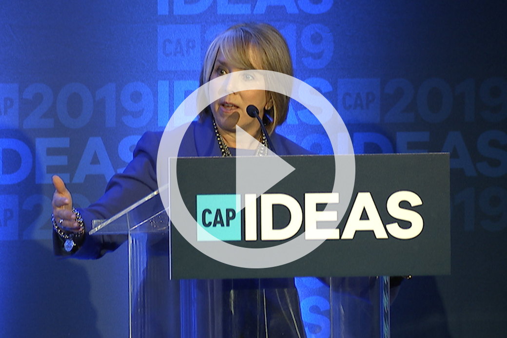 New Mexico Gov. Michelle Lujan Grisham speaks at the 2019 CAP Ideas Conference.