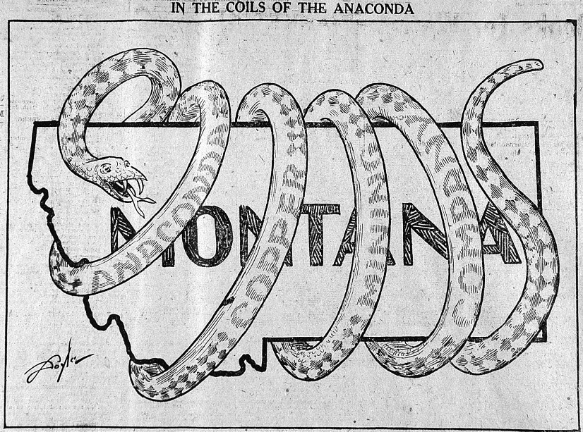 """In the coils of the Anaconda,"" <em>Butte Daily Bulletin</em>, October 2, 1920"