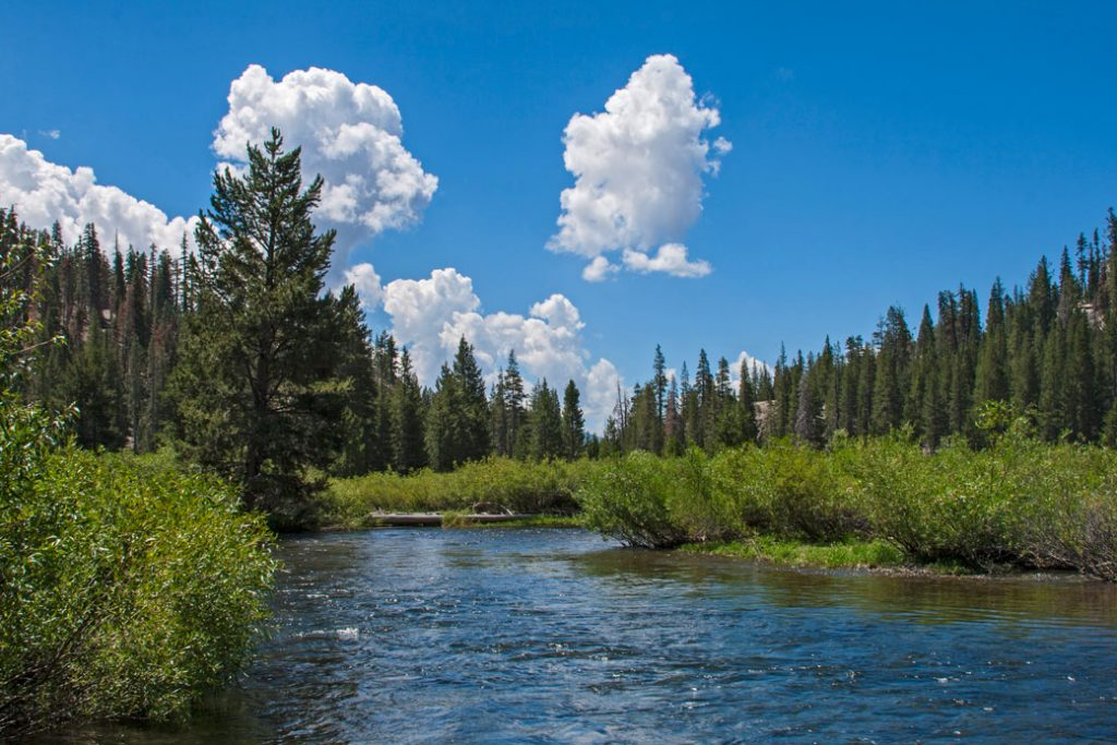 The Middle Fork of the San Joaquin River in California, pictured in March 2017, is a popular fishing destination.