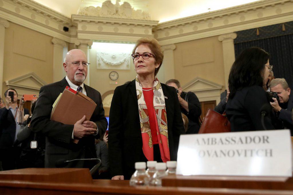 Former U.S. Ambassador to Ukraine Marie Yovanovitch arrives to testify before the U.S. House Intelligence Committee in Washington, D.C., November 15, 2019.