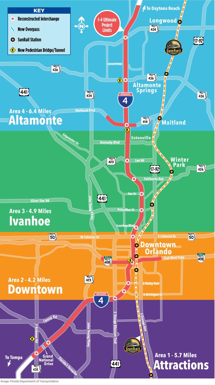 I-4 Orlando map