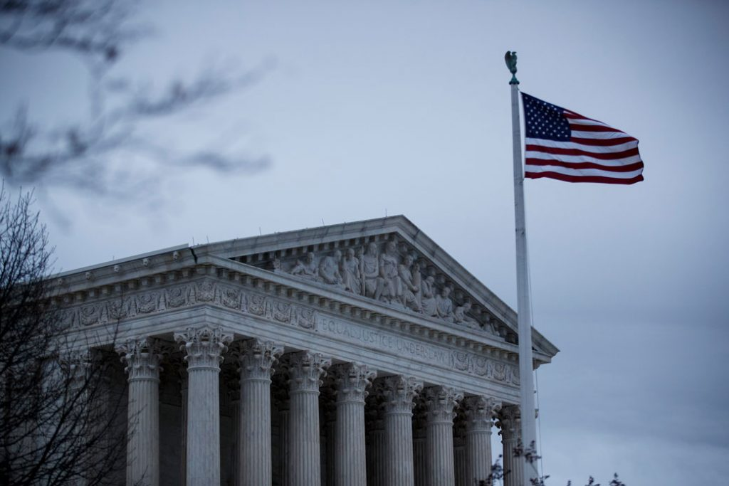 The U.S. Supreme Court is seen in Washington on March 12, 2020, the day the court announced its closure to the public due to concerns related to the coronavirus.