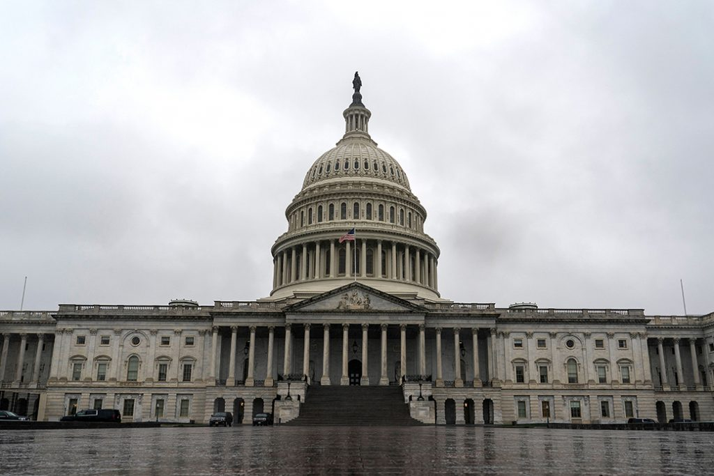 The U.S. Capitol Building is seen on March 25, 2020, in Washington.