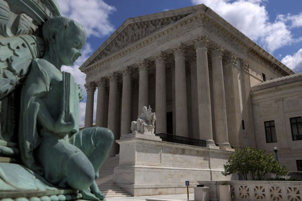 The U.S. Supreme Court building is seen on May 12, 2020, Washington, D.C.