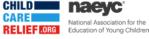 NAEYC and Child Care Relief Logos