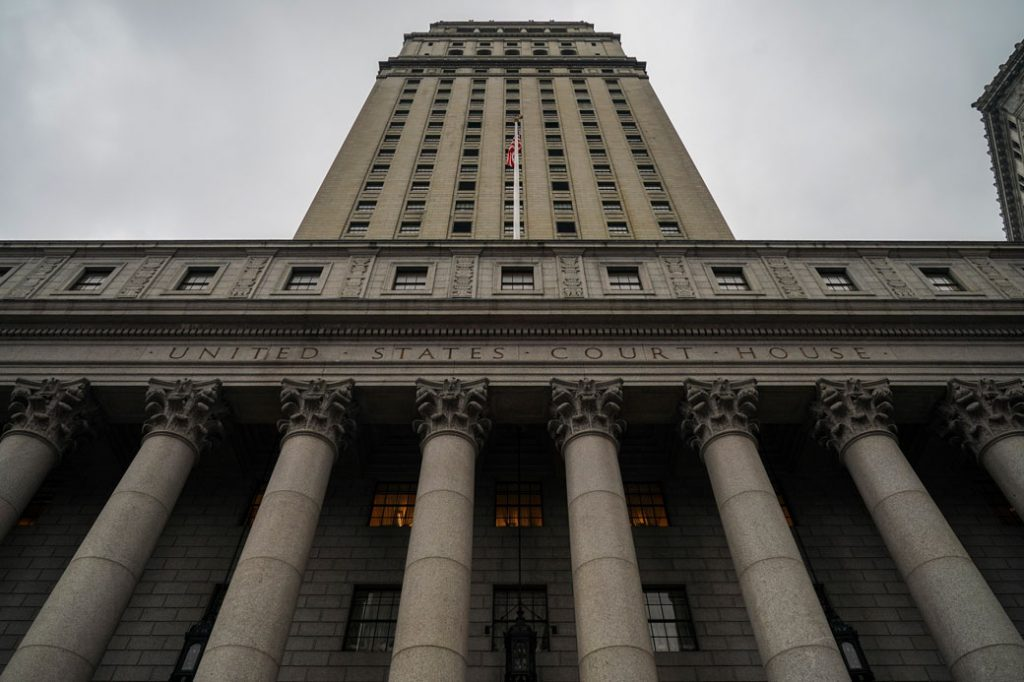 The Thurgood Marshall United States Courthouse hears cases from the U.S. Court of Appeals for the 2nd Circuit in New York City, January 2019.