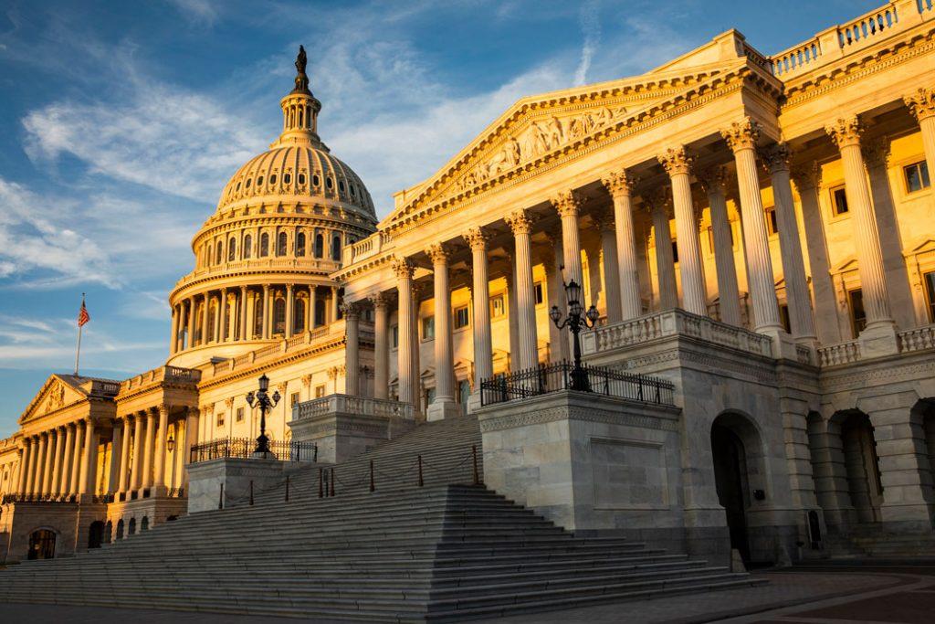 The rising sun illuminates the U.S. Capitol building on September 19, 2019, in Washington, D.C.