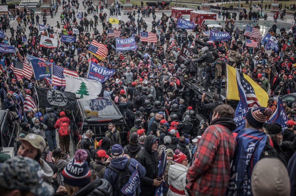 Trump supporters near the U.S. Capitol, January 2020.