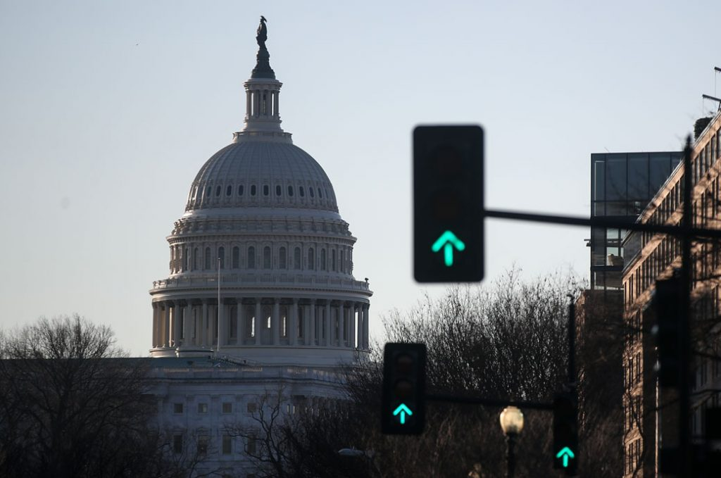 A view of the Capitol Building, January 2020