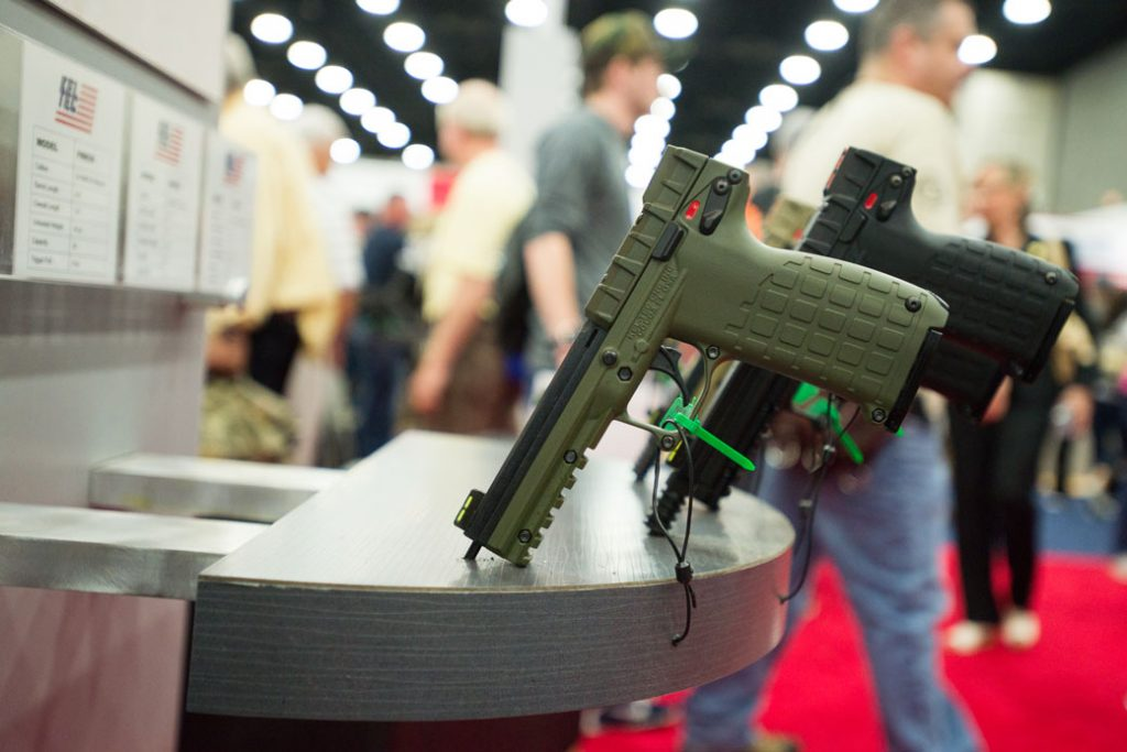 The National Rifle Association (NRA) holds its annual meeting and convention in Louisville, Kentucky, on May 21, 2016.
