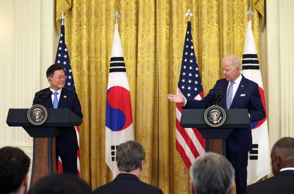 U.S. President Joe Biden and South Korean President Moon Jae-in, May 2021.