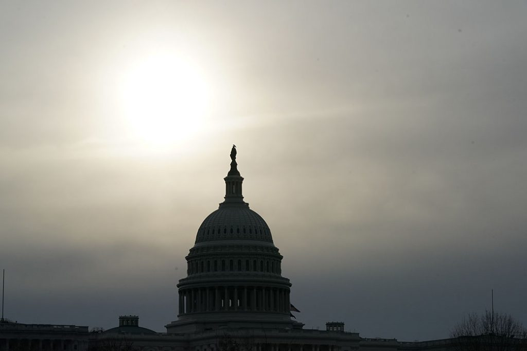 The U.S. Capitol dome is viewed on February 20, 2020, in Washington.