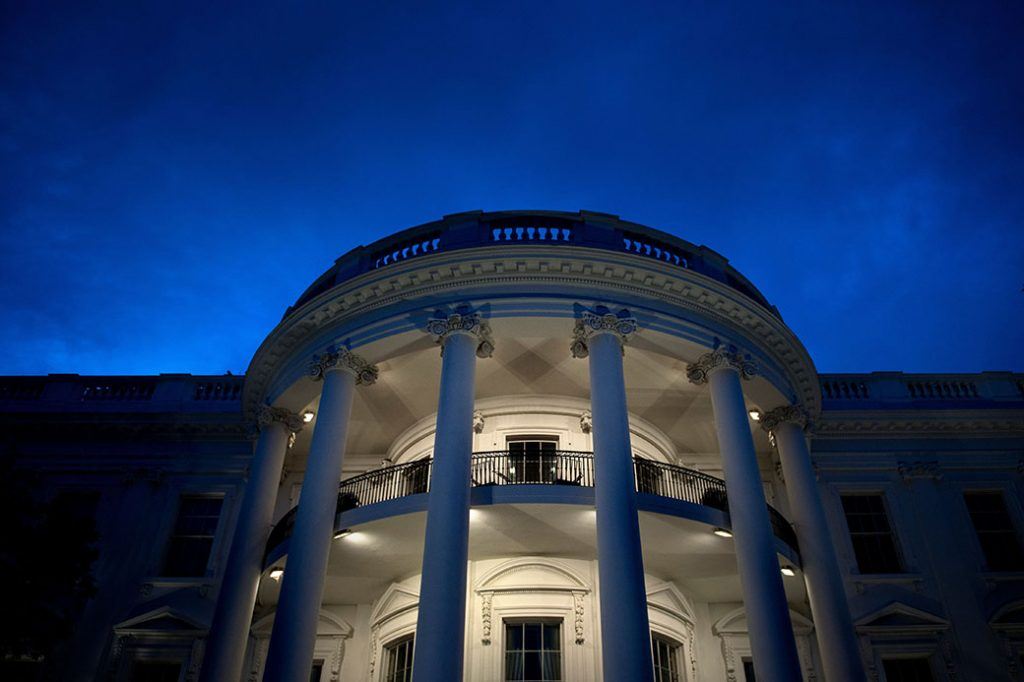 A view of the White House, May 22, 2018, in Washington, D.C.