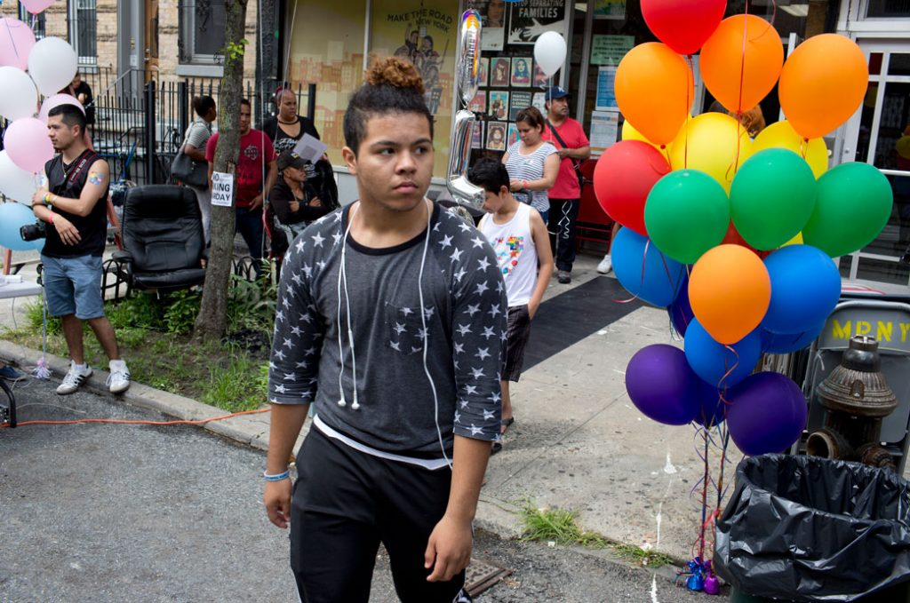 A block party for the local lesbian, gay, and transgender youth of the neighborhood, July 2017.