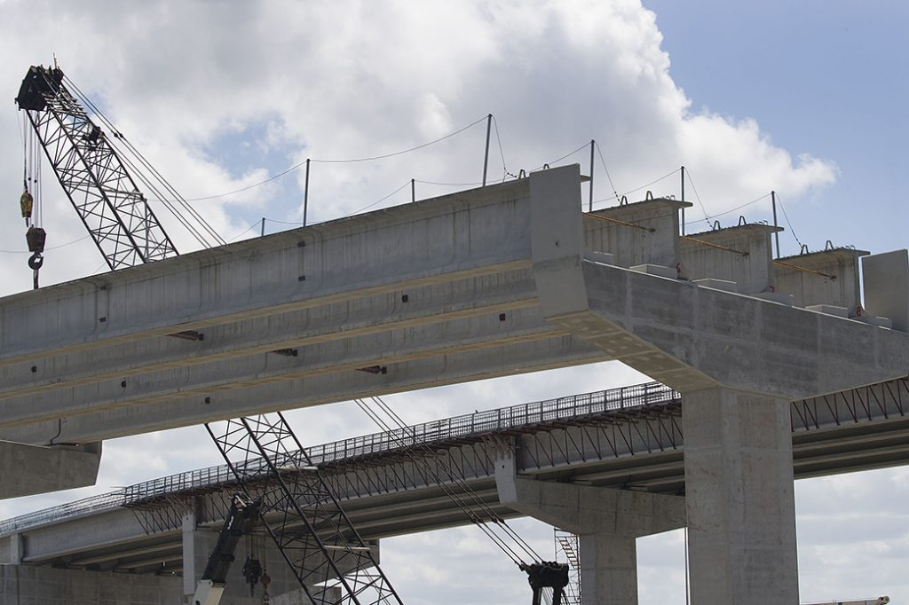 A Florida Turnpike interchange construction site is seen, May 2019, in Miami.