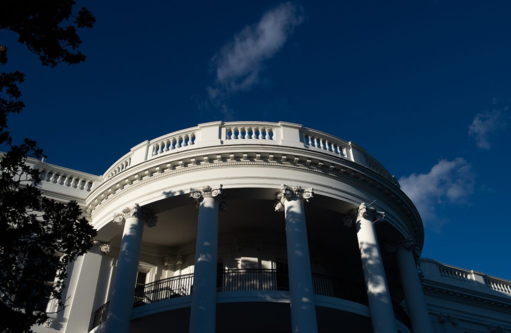 The White House is seen in Washington, October 2020.