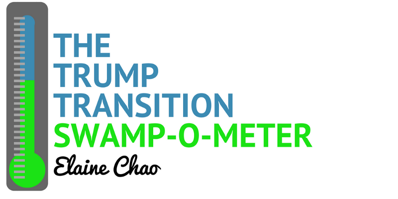 "During his campaign Donald Trump promised to ""drain the swamp"" and rid Washington of of political insiders who've rigged the system. Yet one by one, as president-elect Trump nominates the leaders of his new administration, the swamp seems to be overflowing. So we created the Swamp-O-Meter for each nominee that takes into account the number of years as a politician or working in Washington, net worth, connections to big money, personal conflicts of interest, and any history of racist and homophobic behavior."
