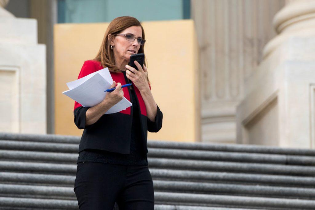 Rep. Martha McSally (R-AZ) walks down the U.S. House steps, January 2018.