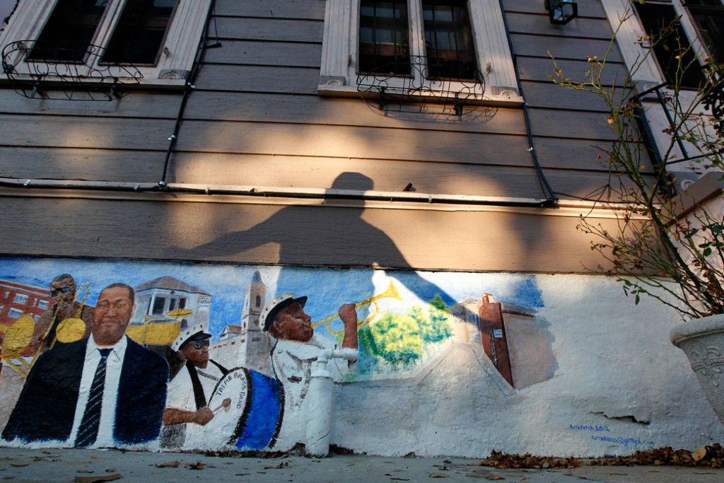 The historic Treme section of New Orleans, October 2012.