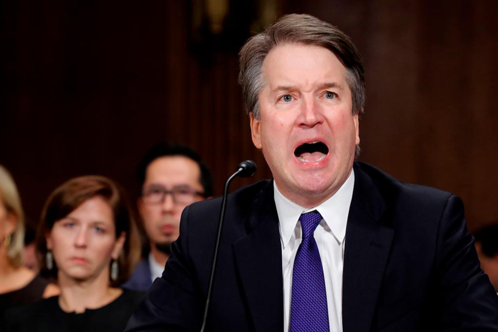 Brett Kavanaugh, nominado a la Corte Suprema de los Estados Unidos, testifica ante el Comité Judicial del Senado, septiembre de 2018.