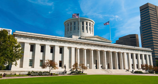 Ohio, whose state capital is pictured above, is one of the majority of states that has failed to pass a law  prohibiting employment discrimination against public  and private workers on the basis of sexual orientation and  gender identity.